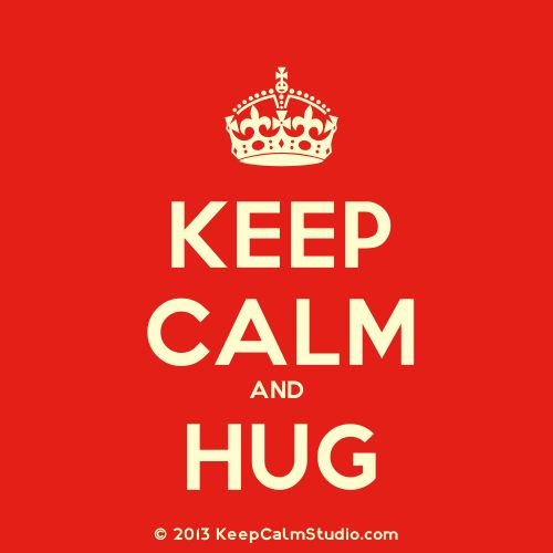 #Whatsapp this #keepcalm #ecard to your special someone & give them #hug therapy.
