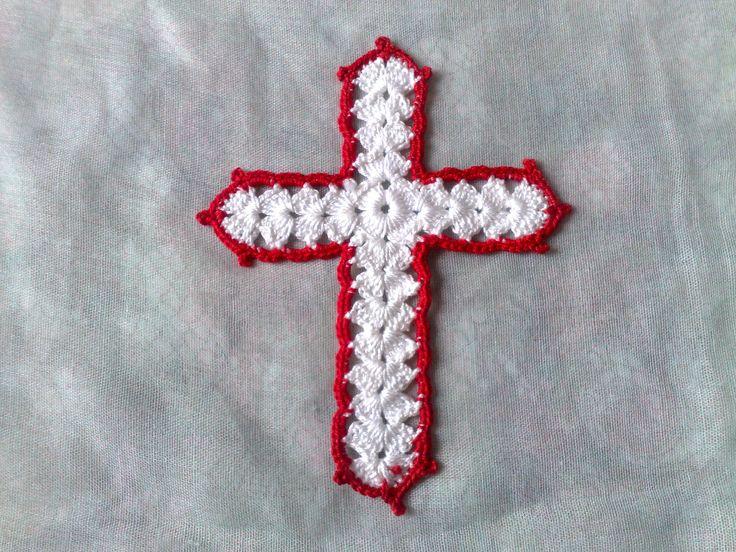 Kreuz Aufnäher-weißes gehäkelte Kreuz Applikation-Bibel Zubehör-christliches Zeichen-Buch Liebhaber-Gechenk für Autoren-Mutter Geschenk von HaekelshopSetervika auf Etsy