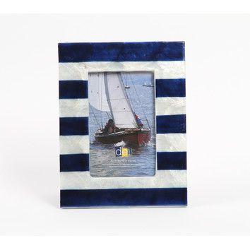 "DEI Latitude 38 4"" x 6"" Nautical Circle Capiz Picture Frame"