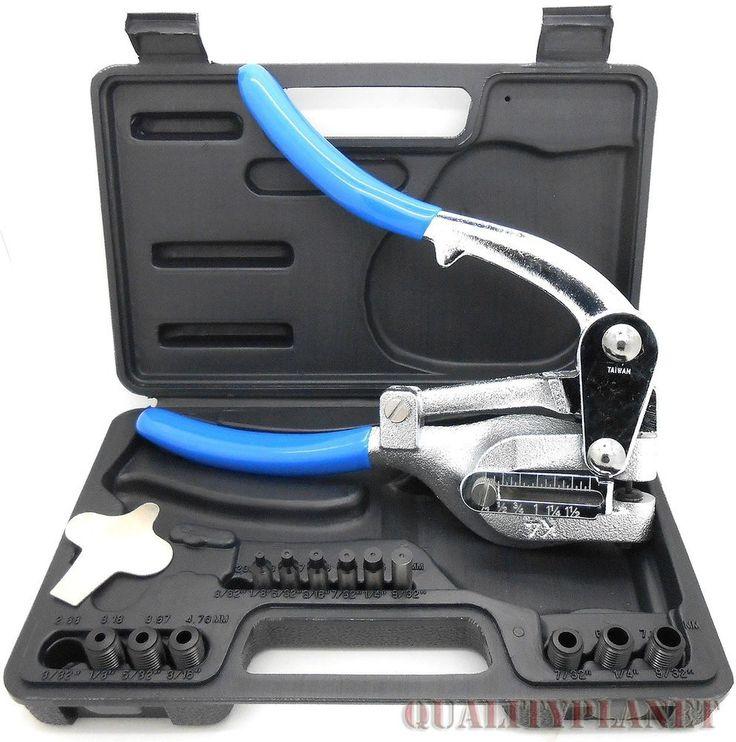 New Power Hole Punch Kit - Sheet Metal - Hand Tool Set HEAVY DUTY Punch Kit