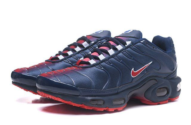 navy blue and red nikes