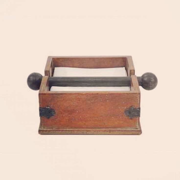 Square Wood Napkin Holder