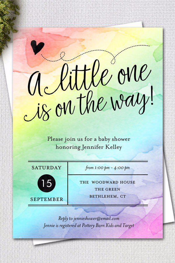 Bright and Cheery Rainbow Baby Shower Ideas – #Bab…