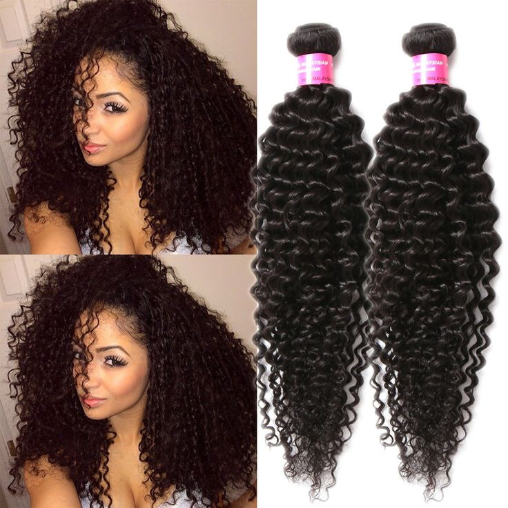 "Top Quality! 12""-30"" Human Hair Extensions 50g Brazilian Black Afro Curly Wave #wigiss #HairExtension"