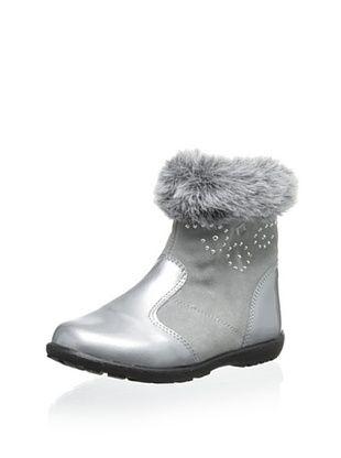 72% OFF Ciao Bimbi Kid's Studded Faux Fur Cuff Boot (Silver)