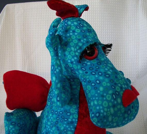 Handmade Baby Dragon Soft Toy by sharronmay on Etsy