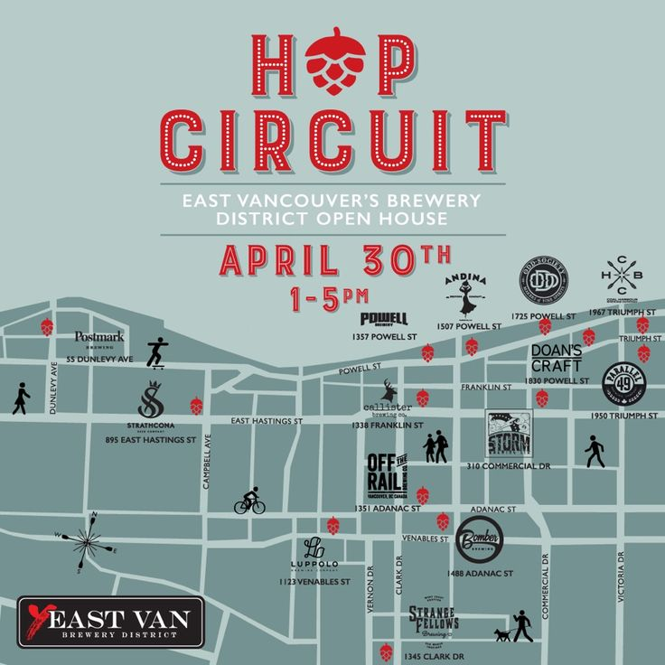Parallel 49 Brewing Company Hosting Beer Garden and Brewery Tours for East Vancouver's Hop Circuit Open House April 30th from 1pm to 5pm