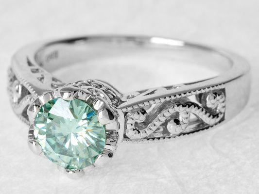 111 Best Images About Moisannite Vs Diamond On Pinterest