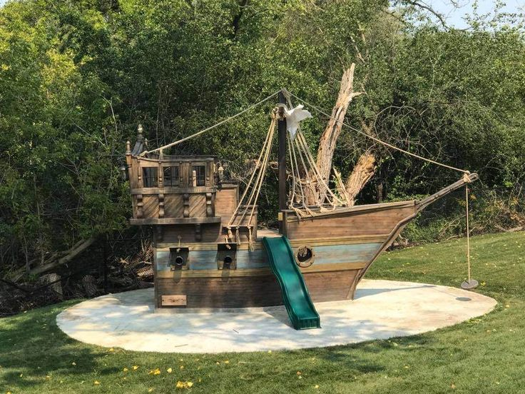 I was asked to build a pirate ship which would be O.K. if I had ever seen one in real life.... Here's what I came up with.