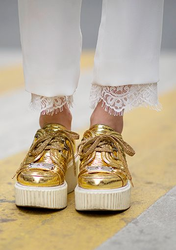 metallic gold & lace