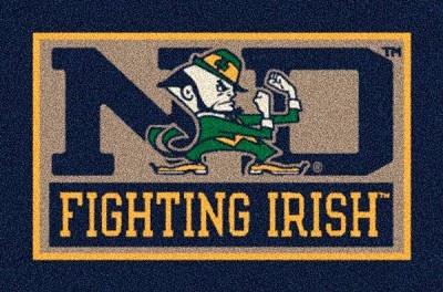 Notre Dame Fighting Irish Alternate Team Logo Area Rug