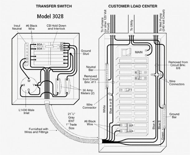 generac manual transfer switch wiring diagram  transfer