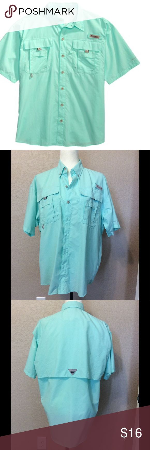 Men's Columbia Fishing Shirt Light blue/green in color. Worn once. In perfect condition. Size small. Columbia Tops