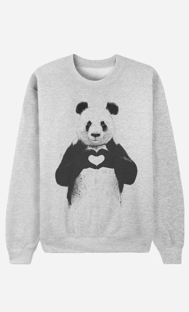 Sweat Femme Love Panda by Solti Balazs - Wooop.fr