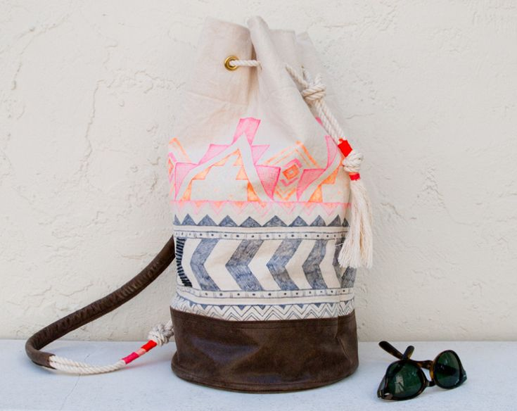 THE DUFFLE, NEON - Chapman at Sea - Handcrafted Surfboard Bags