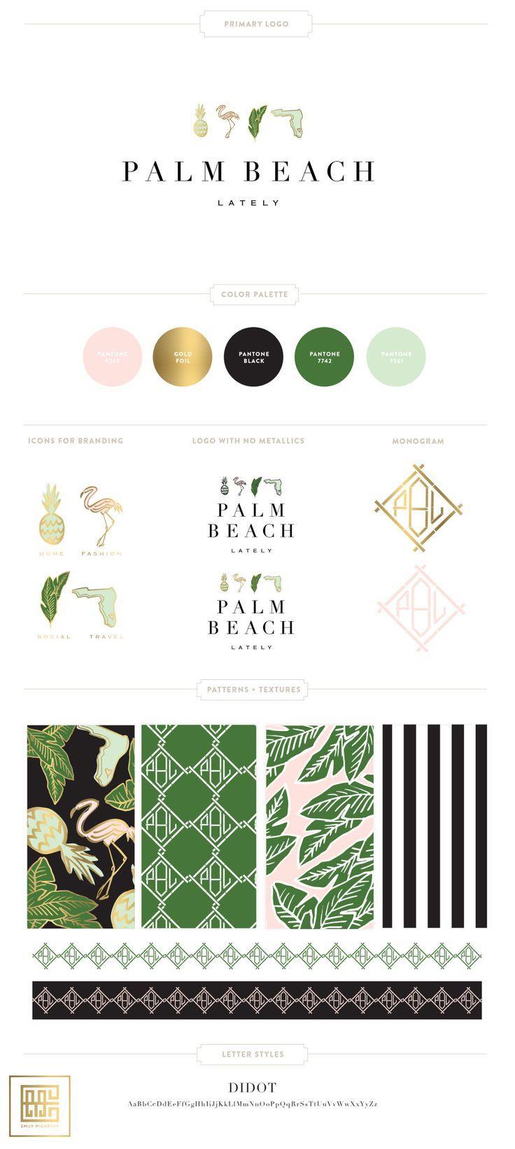 Emily McCarthy Brand   Palm Beach Lately Branding Board   http://www.emilymccarthy.com #branding