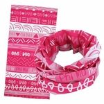 """Phi Mu sorority lettered Wide Head Buff - One size fits most 24"""" in length and many great ways to wear them!"""