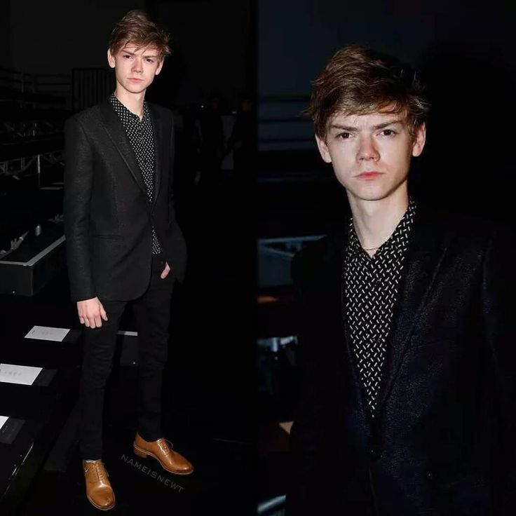 """""""+ NEW   [5/6] Thomas Sangster at the Saint Laurent Spring/Summer 2016 Show during the Paris Fashion Week, earlier today, October 6th! – #ThomasSangster…"""""""