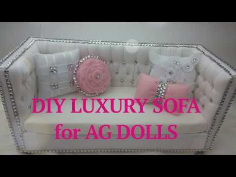 American Girl Doll Couch and Chair Tutorial DIY How to Make - YouTube