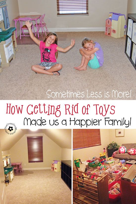 It is possible for kids to have too much of a good thing. Find out how getting rid of most of our toys made us a happier family! {OneCreativeMommy.com}