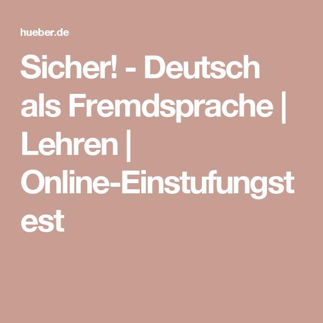 Sicher! - Deutsch als Fremdsprache | Lehren |  Online-Einstufungstest