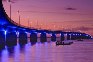 Pont reliant l'île d'Oléron et le bassin de Marennes
