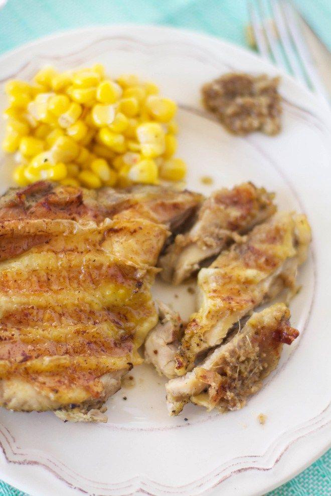 Cuisses de poulet désossées & marinées, sauce aillade
