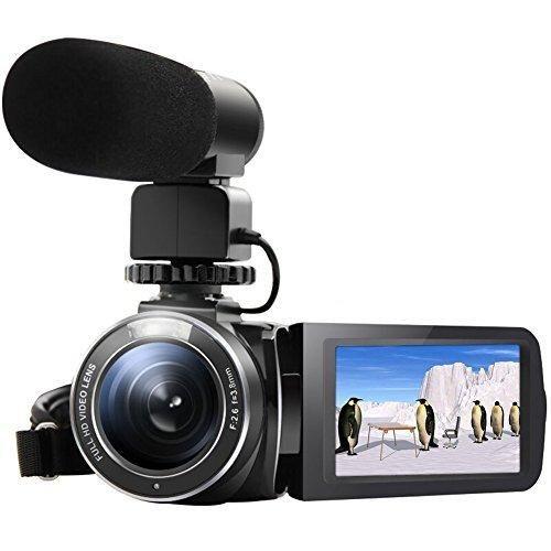 "SEREE HDV-520 Camcorder WIFI External Microphone Jack Input FHD 1080p 24.0MP 3.0"" Screen 16X Digital Zoom Digital Camera Video Recorder (HDV-520-FBA)"