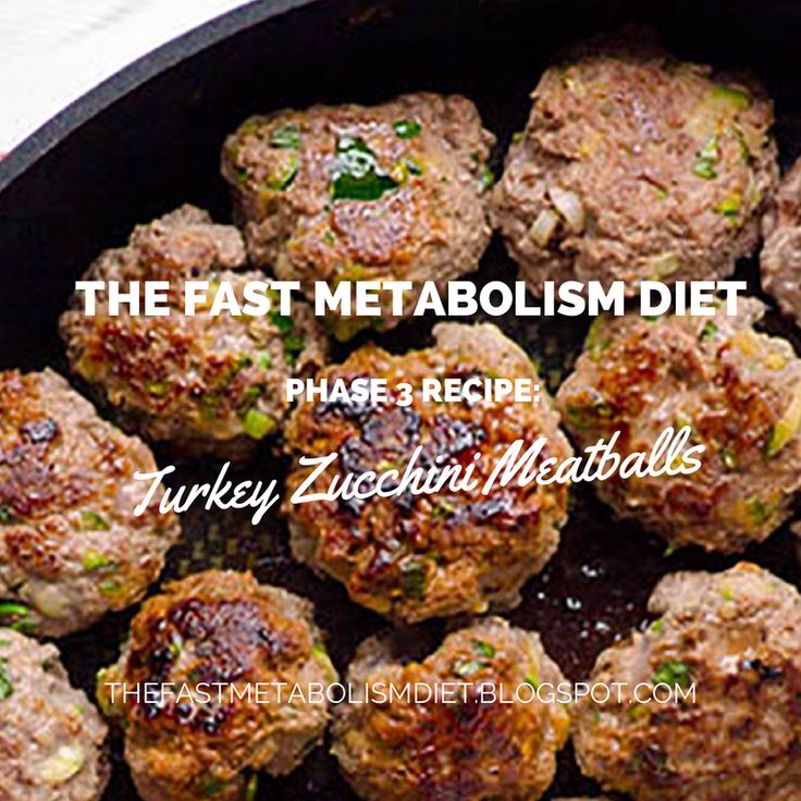 The Fast Metabolism Diet Phase 3 Recipe: Turkey Zucchini Meatballs #fastmetabolismdiet #fastmetabolismdietphase3recipe