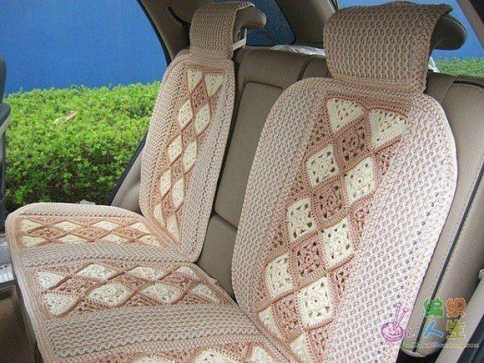 Чехлы для сидений в машину своими руками. Чехлы в машину вязаные крючком схемы   Домоводство для всей семьи.