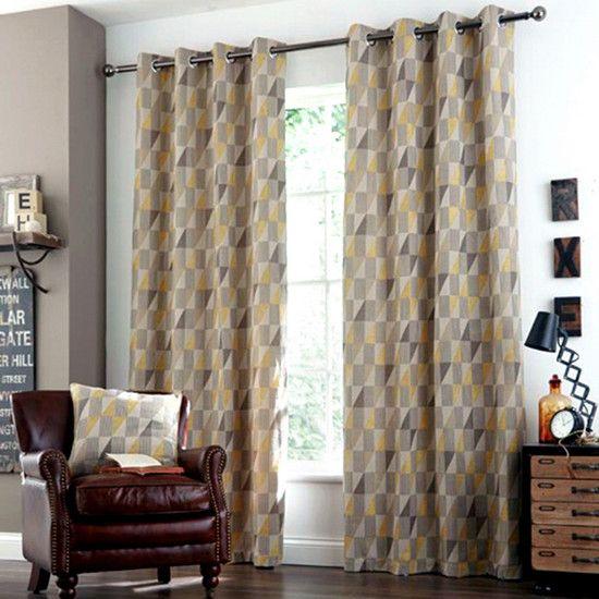 Ochre Revival Eyelet Curtain Collection | Dunelm