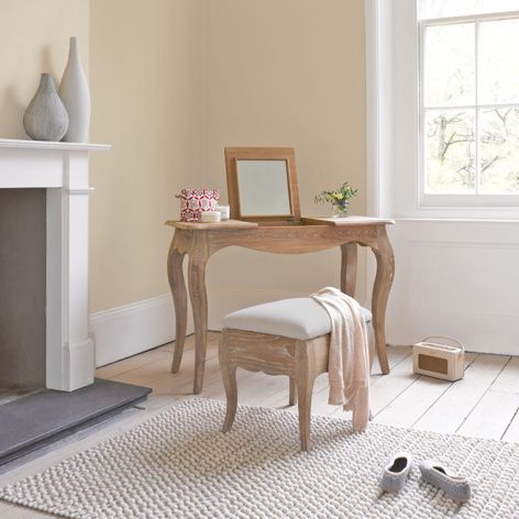 Thelma dressing table handmade from solid oak with a lovely weathered finish