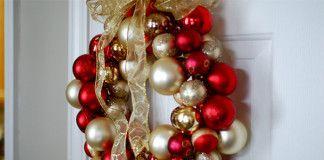 Vianočný veniec z gulí   Urob si sám