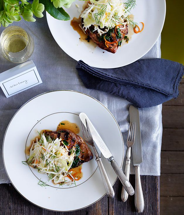 Twice-cooked+duck+with+celeriac+salad