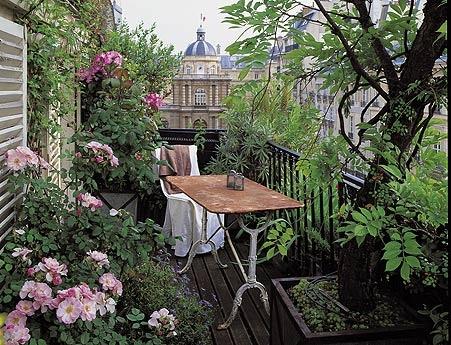 Groene oase op het balkon