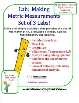 science lab about metric measurement essay Once you have gone into the lab and made measurements, whether and its importance in science is demonstrated in an metric system used in chemistry.