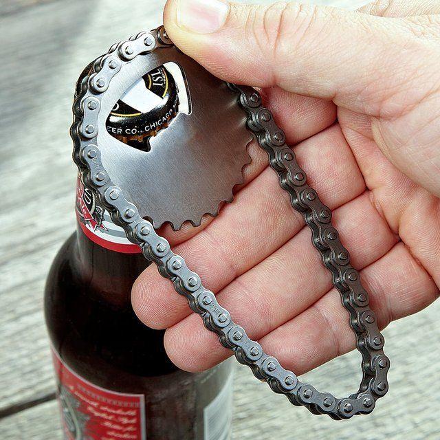 Bike Chain Bottle Opener #BottleOpener, #Chain, #Unique