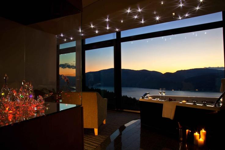 Hotel room at Sparkling Hill Resort in Vernon, BC.