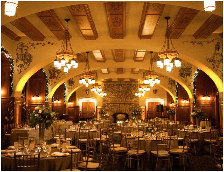 Clic Reception Decor With A Mixed Metallic Palette The Fairmont Cau Lake Louise Weddings