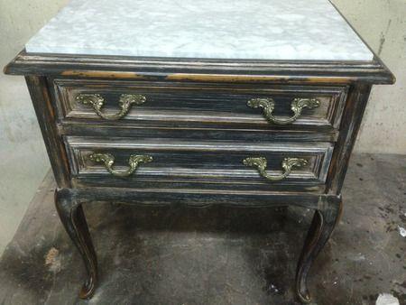 Mesilla con tapa de marmol vintage 200 euros - Restauracion muebles vintage ...