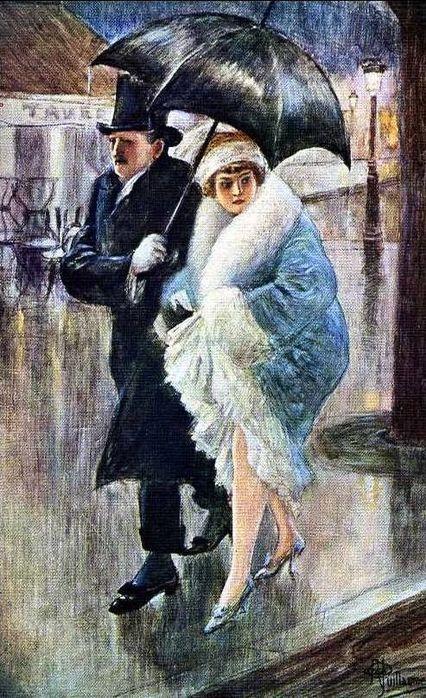 +++++MMMMM+++++MMMMMhttps://es.pinterest.com/turnergiraffe/under-my-umbrella/ +++++++++++++++++++++ by Albert Guillaume (French, 1873-1942)