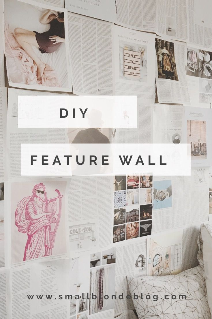 turn magazine pages into a bright, colourful diy feature wall // www.smallblondeblog.com