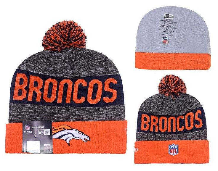 big sale cccbf 07bff ... coupon code hat stripe mens womens denver broncos new era 2016 nfl  sideline sport knit pom