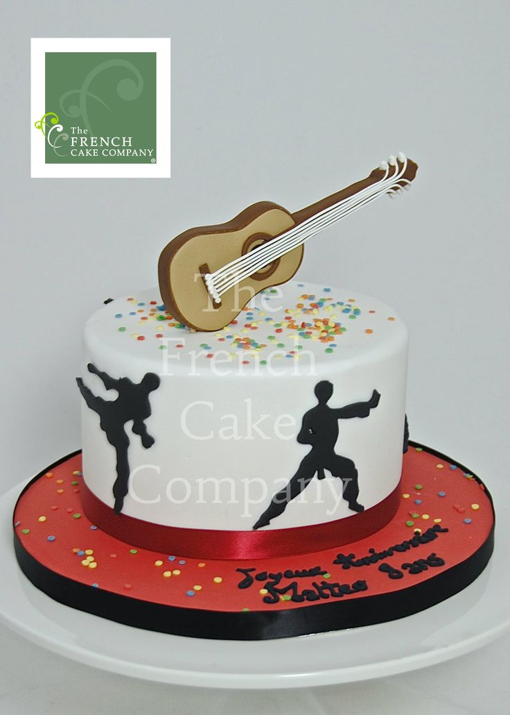 decoration gateau karate