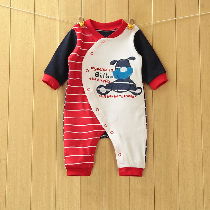 77e30bf132e4 2016 Baby Rompers Cotton Body suits Long Pajamas Romper payifang ...