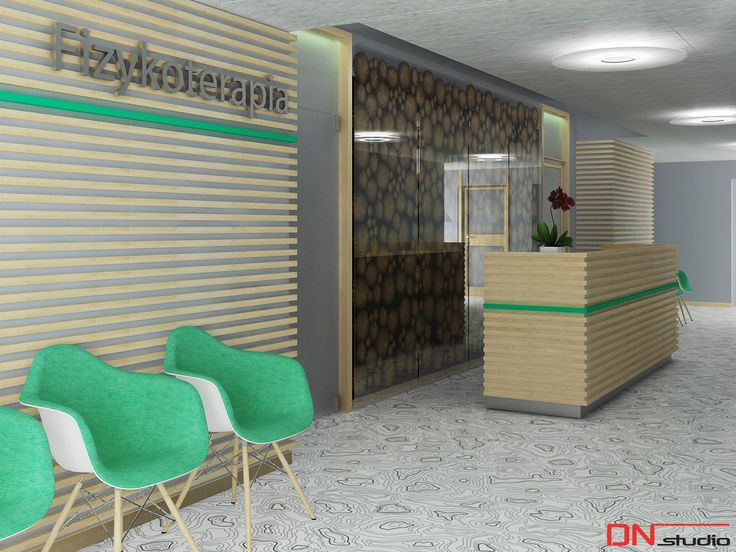 BRISTOL ART & SPA Sanatorium in Busko Zdroj, Poland. Design and Rendering of a waiting room.