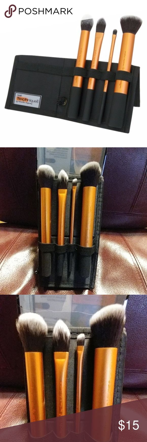 Real Techniques 5pc Core Collection Brushes & Case