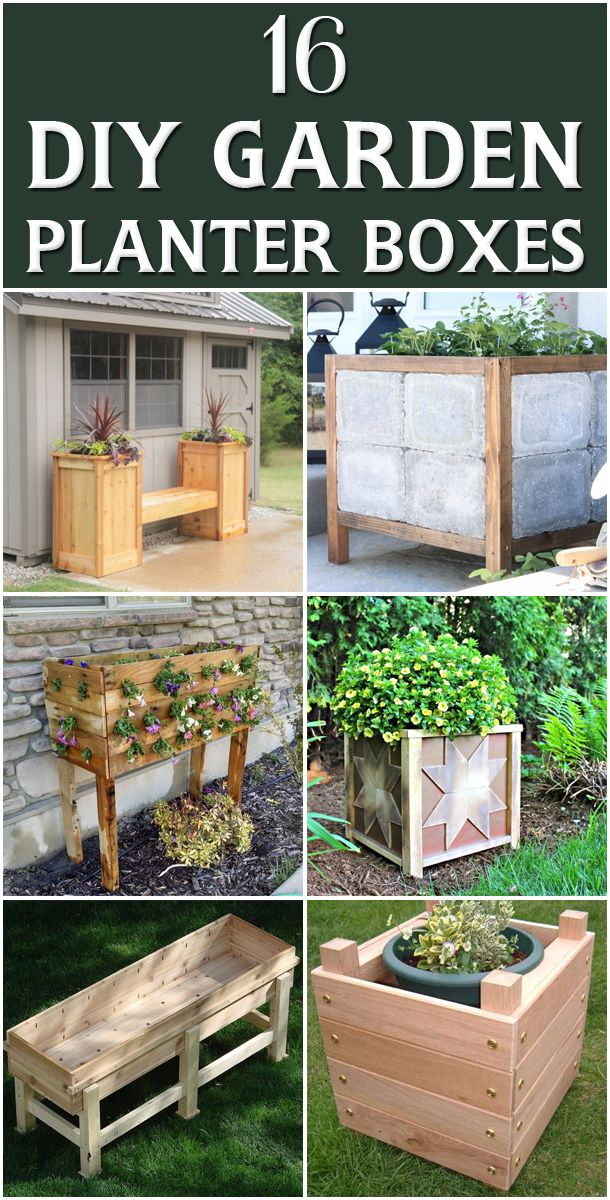 16 outstanding diy garden planter boxes