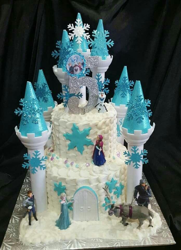 Iya's Frozen Castle cake