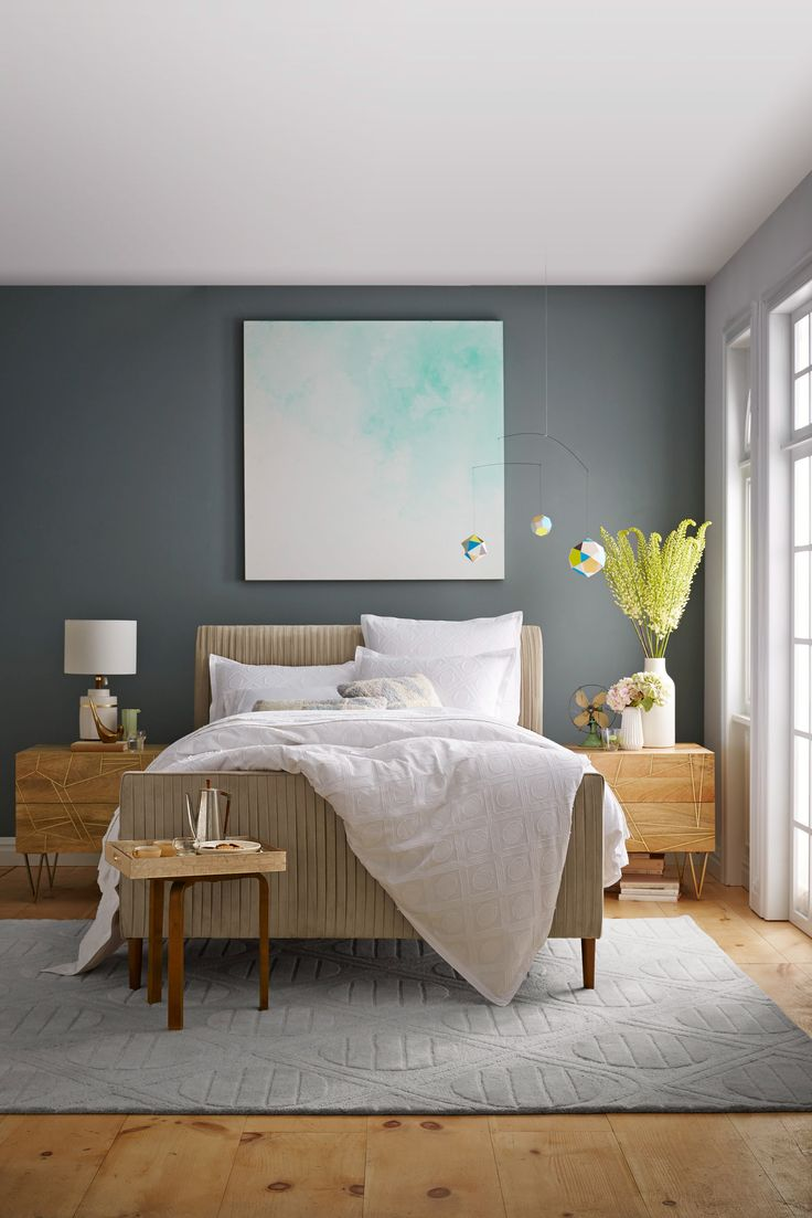 Bedroom colors and designs - Accented With Bright Spring Green And Cool Turquoise A Neutral Bedroom Is Perfect For Rest